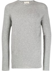 Ma'ry'ya Ribbed Knit Detail Sweater Grey