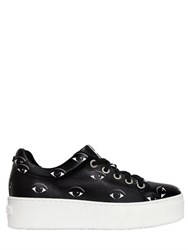 Kenzo 40Mm Eye Print Leather Platform Sneakers