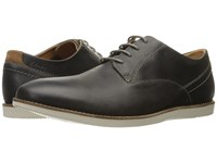 Clarks Franson Plain Grey Leather Men's Lace Up Wing Tip Shoes Gray