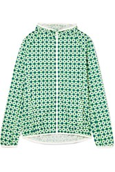 Tory Sport Hooded Floral Print Shell Jacket Green Gbp