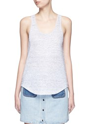 Rag And Bone 'Summer Stripe Canyon' Linen Cotton Tank Top Grey