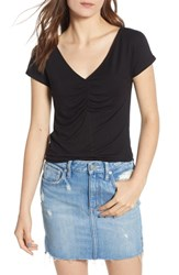 Socialite Cinch Front Tee Black