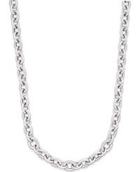 Macy's Diamond Oval Link Necklace 5 8 Ct. T.W. In Sterling Silver