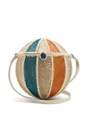 Sophie Anderson Meylin Woven Grass Cross Body Bag Cream Multi