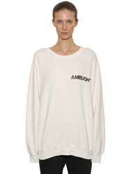 Ambush Logo Printed Cotton Sweatshirt Off White
