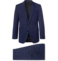 Boss Navy Huge Genius Slim Fit Super 120S Virgin Wool Suit