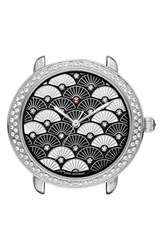 Michele Women's Serein 16 Diamond Diamond Fan Mosaic Watch Case 34Mm X 36Mm