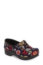 Dansko Women's 'Stapled Collection Felt Pro' Floral Clog
