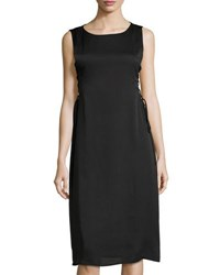 Bcbgeneration Lace Up Side Woven Cocktail Dress Black