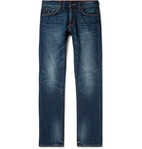 Jean Shop Mick Slim Fit Japanese Selvedge Denim Jeans Blue