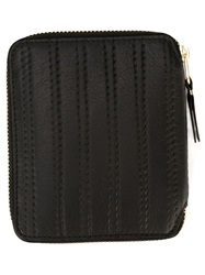 Comme Des Garcons Wallet 'Embossed Stitch' Purse Black