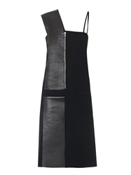 Atto Leather And Crepe Dress