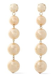 Kenneth Jay Lane Woman Gold Plated Faux Pearl Earrings Cream