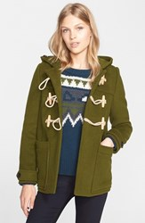 Women's Burberry Brit 'Portstead' Hooded Duffle Coat