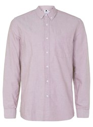 Topman Burgundy And White Button Down Oxford Shirt Red