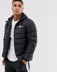Hype Hooded Puffer Jacket Black