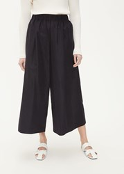 Dusan 'S Wide Leg Pant In Black Size Small Cotton Silk