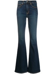 Veronica Beard Flared High Rise Jeans Blue
