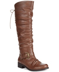 Xoxo Marcher Wide Calf Tall Boots Women's Shoes Chocolate