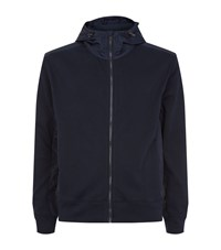Polo Ralph Lauren Nylon Panelled Zip Hoodie Male Navy