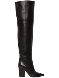 Sergio Rossi 90Mm Over The Knee Leather Boots Black