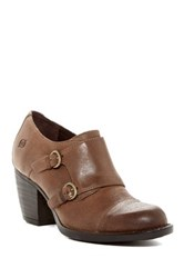 Born Davis Dual Monk Strap Bootie Brown