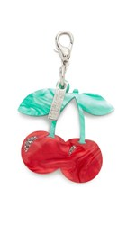 Edie Parker Cherry Charm Keychain Red Multi