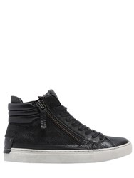 Crime 20Mm Embossed Leather High Top Sneakers