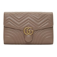 Gucci Pink Medium Gg Marmont Clutch