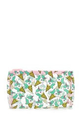 Forever 21 Unicorn Cone Print Makeup Bag Clear Multi