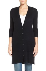 Women's Halogen Wool And Cashmere Long V Neck Cardigan