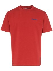 Eytys Smith Cotton Short Sleeve T Shirt Red