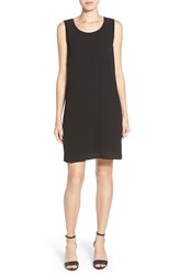 Petite Women's Pleione Beaded A Line Shift Dress Black
