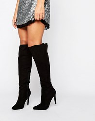 Little Mistress Knee Boot Black