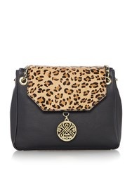 Biba Chain Handle Shoulder Bag Leopard