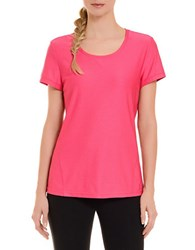 Danskin Textured Tee Beetroot Pink