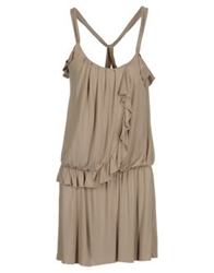 E Go' Sonia De Nisco Short Dresses Light Grey
