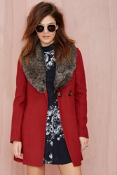 Nasty Gal Florence Faux Fur Coat