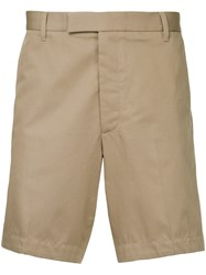 Gieves And Hawkes Fitted Chino Shorts Nude And Neutrals