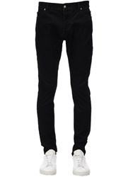 Balmain 15Cm Washed Slim Cotton Denim Jeans Black