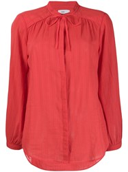 Closed Long Sleeve Shirt Red