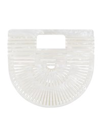 Cult Gaia Mini Acrylic Mother Of Pearl Ark Bag Ivory