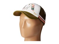 Roxy Dig This Castaway California Trucker Hat Military Olive Caps