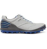 Ecco Cage Pro Hydromax Leather Golf Shoes Light Gray
