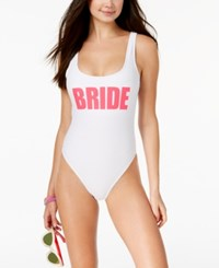 California Waves Bride Graphic One Piece Swimsuit Women's Swimsuit White