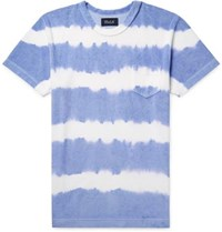 Howlin' Tie Dyed Cotton Blend Terry T Shirt Violet