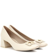 Tory Burch Gigi 55Mm Patent Leather Pumps Beige