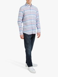 Eden Park Horizontal Stripe Shirt White Multi