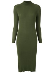 Mara Mac High Neck Dress Green