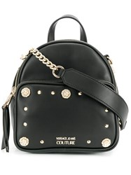 Versace Jeans Couture Embellished Backpack Black